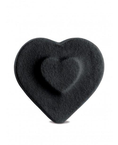 Heart Double Black Beret