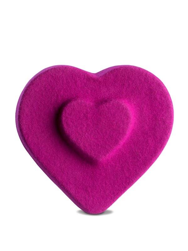Heart Double Fuchsia Beret