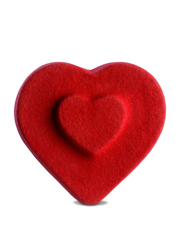 Heart Double Poppy Beret