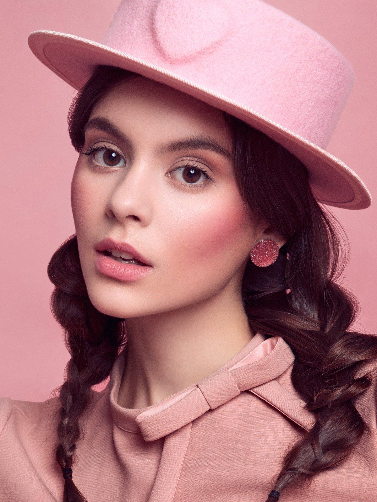 Pink Heart Hat