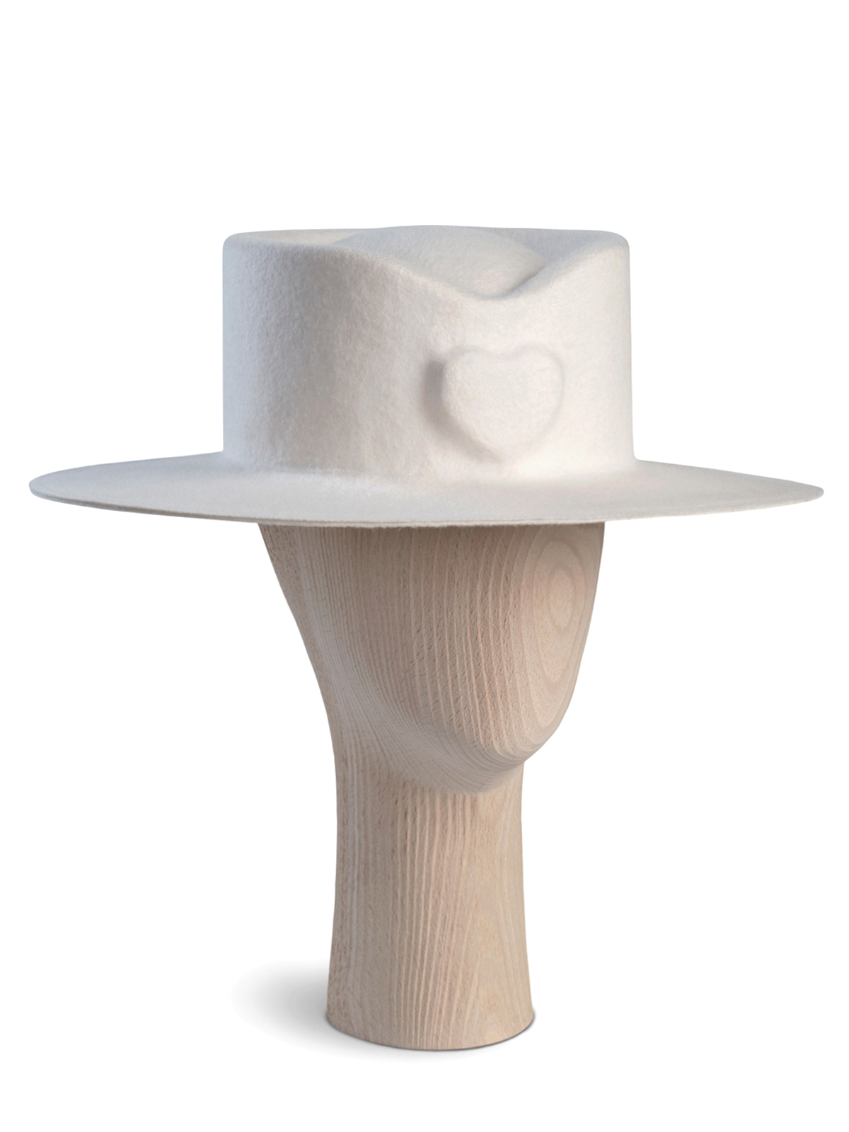 White Heart Hat