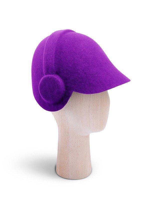 Headphones Purple Cap