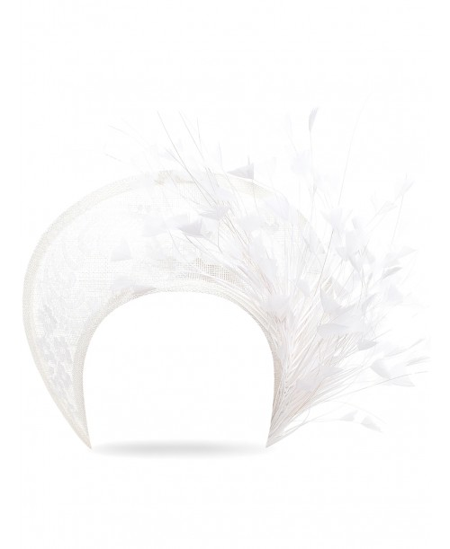 Tiara White Feathers