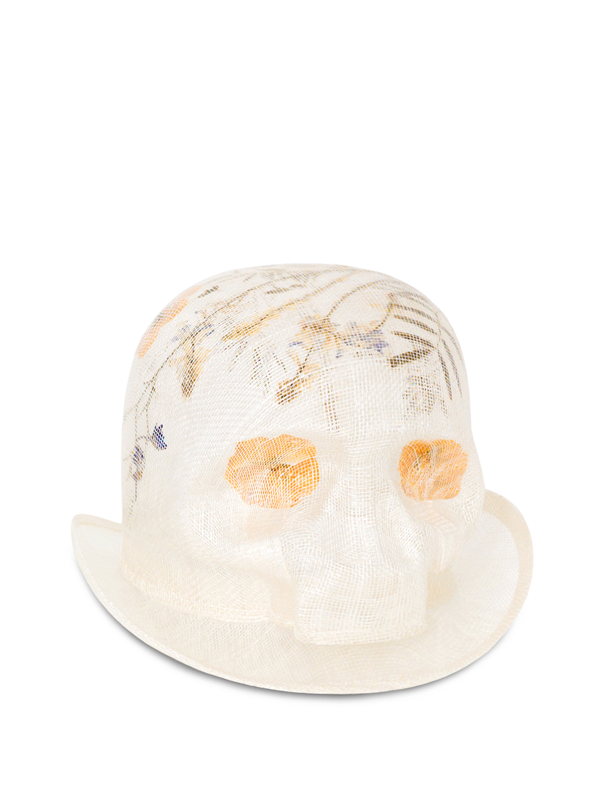 Mini Skull Pressed Flowers Hat