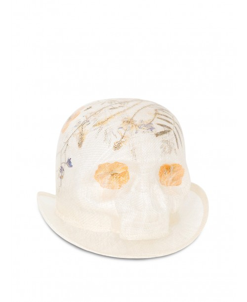 Mini Skull Pressed Flowers Hat