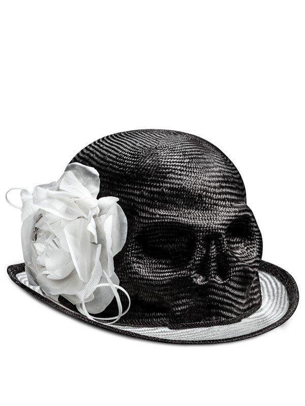 Light Skull Flower Hat